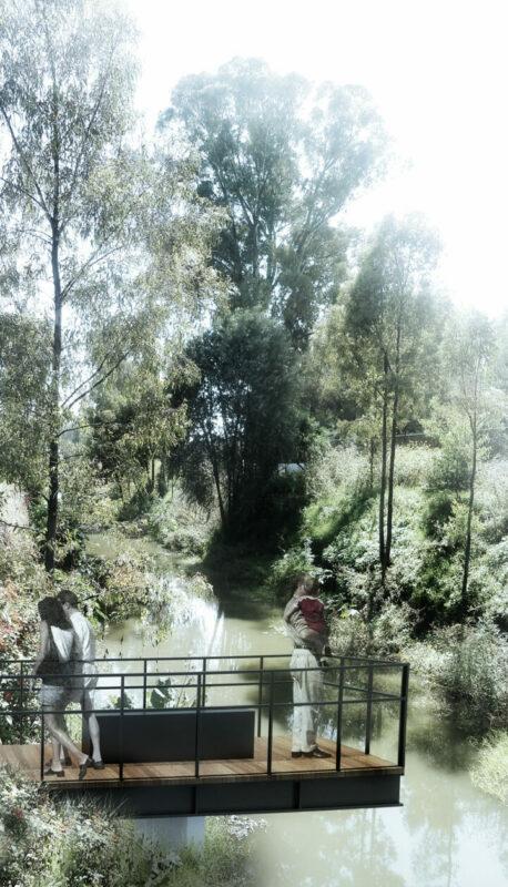 Muelle del parque lineal canal nacional