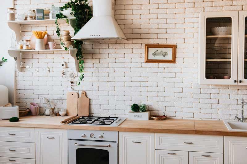cocinas modernas integrales blancas