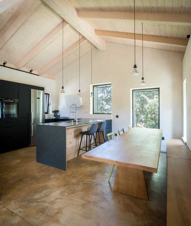 diseño de casa moderna de campo interior