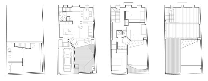 Planta arquitectónica de diseño de casa moderna