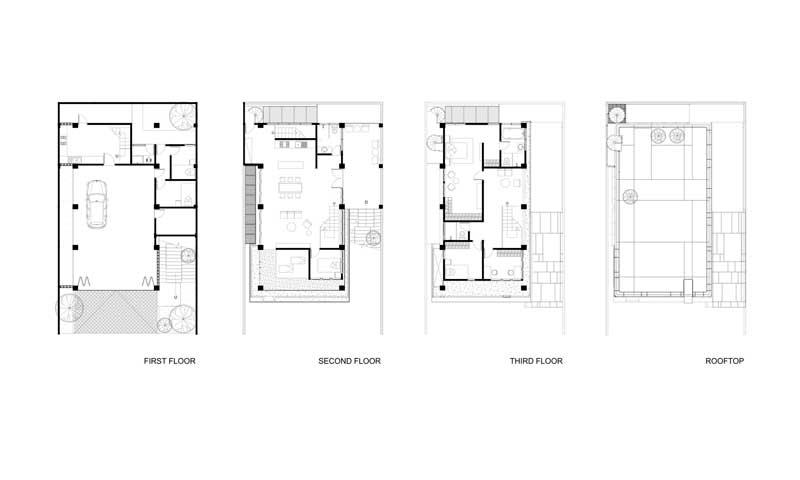 Planta arquitectónica de casa