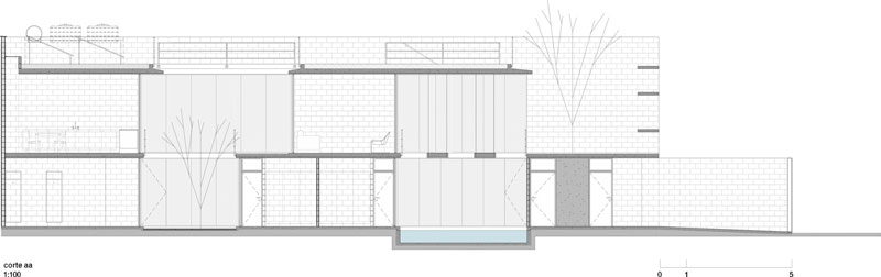 vivienda social corte arquitectónico