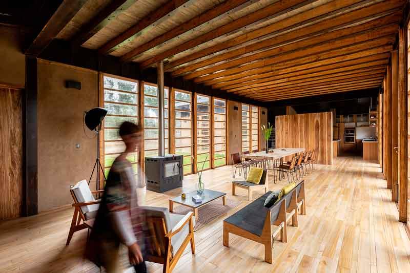 Diseño de casa moderna salón