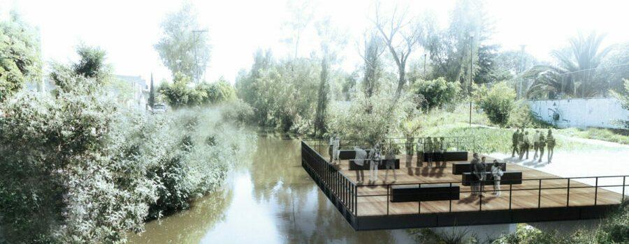 Parque lineal canal nacional muelle mirador