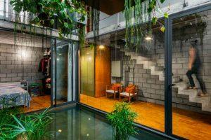 diseño de casa economica patio
